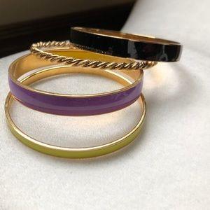 Four (4) JCrew bangles